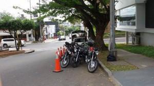 Las motos están estacionadas en un tramo de la calle 48 entre carreras 36 y 38. - Suministrada Cristian Pinto /GENTE DE CABECERA