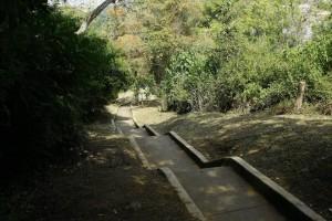 El sendero fue arreglado a finales de diciembre de 2014 y es el que parte de la carrera 48 hacia altos de Terrazas. - César Flórez / GENTE DE CABECERA