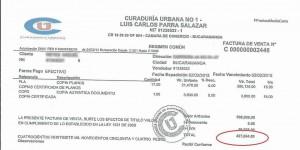 Esta es la factura que constata el cobro que fue denunciado por un ciudadano de Cabecera. - Suministrada / GENTE DE CABECERA