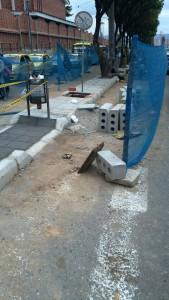 Esta semana avanzaron las obras en el separador de la carrera 33 entre calles 56 y el puente La Flora