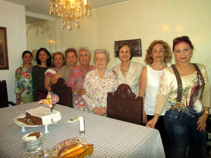 Diana Sierra, Karina Arciniegas, Martha Pinzón, Lucila Esparza, Argénida Domínguez, Cecilia de Umaña, Lucila de Ariza, Mariela Gutiérrez y Clara Gutiérrez. - Suministrada / GENTE DE CABECERA