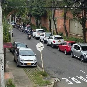 Esta foto fue tomada un sábado al mediodía, en la carrera 32 entre calles 49 y 51. - Suministrada /GENTE DE CABECERA