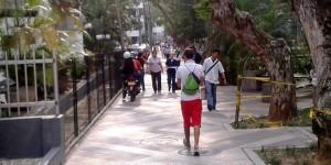 Esta es una de las invasiones recurrentes de motociclistas, en el parque San Pío, calle 46 entre carreras 35 y 35A. - Suministrada / GENTE DE CABECERA