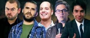 Estos son los cinco comediantes que se presentarán en el Teatro Corfescu. - Suministrada / GENTE DE CABECERA