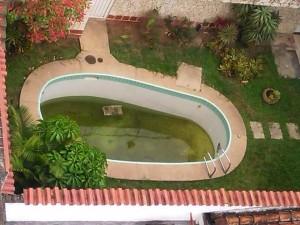 """""""En la foto se puede apreciar muy bien el estado de la piscina"""", denuncia la residente de Cabecera. - Suministrada / GENTE DE CABECERA"""