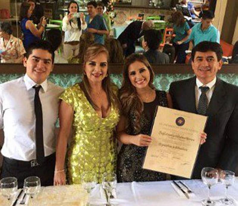 Felipe Villabona, Lady Stella Herrera, Andrea Villabona y Fabio Villabona.  - Suministrada / GENTE DE CABECERA