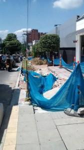Este es el punto de la carrera 35A entre calles 51 y 52 donde se avanza con la reestructuración de andenes. - Suministrada /GENTE DE CABECERA