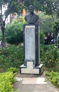 Benjamín Herrera fue representado en este busto