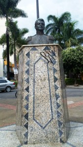 El prócer argentino José de San Martín tiene su busto en Bucaramanga