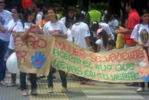 La Marcha por la Vida y la Familia es apoyada por la Arquidiócesis de Bucaramanga. - Suministrada / GENTE DE CABECERA