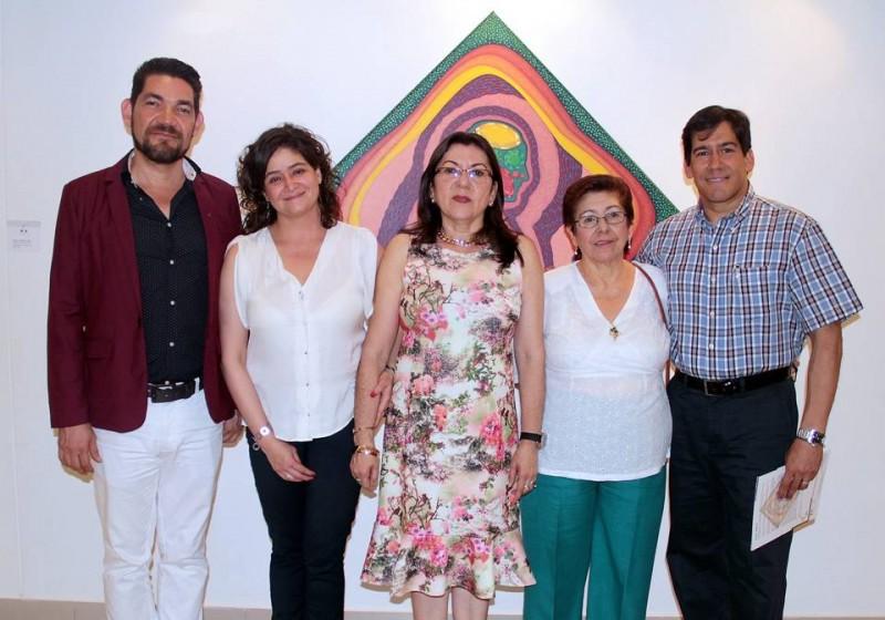 Ciro Caballero, Paula Gómez, Amparo Caballero, Emma de Suárez y Freddy Suárez Gutiérrez. - Javier Gutiérrez / GENTE DE CABECERA