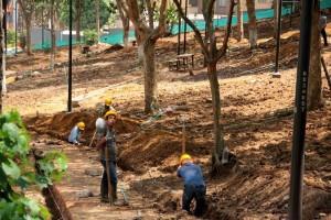 Uno de los temas de interés es el mantenimiento de parques del sector y la socialización de proyectos como la remodelación que actualmente se hace en Los Sarrapios