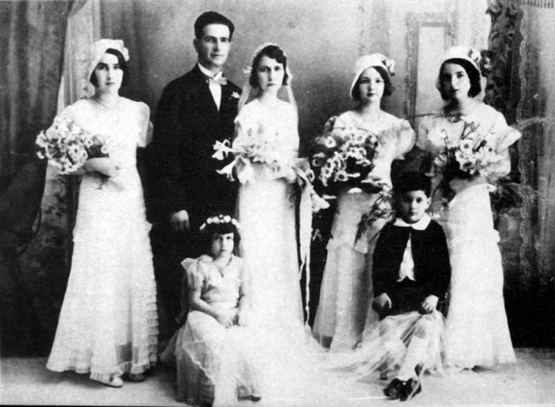 Matrimonio de Gabriel Otero y Manuelita Puyana Valderrama.