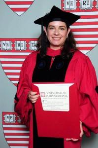 María Cecilia Acevedo Villalobos es egresada del colegio La Merced. Ahora se graduó como Doctora en Políticas Públicas de la Universidad de Harvard. - Suministrada / GENTE DE CABECERA