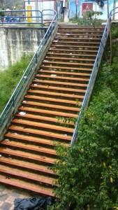 Las escaleras del parque La Loma también están llenas de vasos y platos desechables. - Suministrada / GENTE DE CABECERA