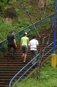 Las escaleras del Parque La Loma, cerca de Majestic