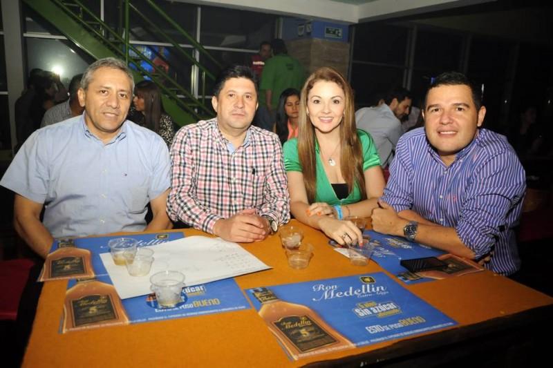 Pedro Ortiz, Francisco Suárez, Milena Mantilla y Jorge Cabrales. - Didier Niño / GENTE DE CABECERA