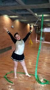 María Elba Hernández Quijano practica la gimnasia artística. - Suministrada/ GENTE DE CABECERA