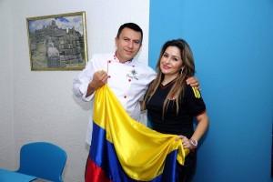 Luis Bartra y su esposa Liliana Mejía.
