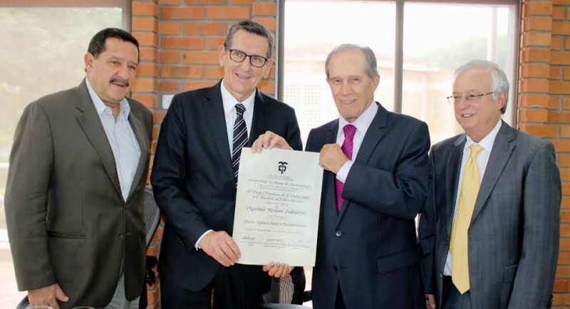 Juan Pablo Carvajal, Reinhold Richard Geilsörfer, Alberto Montoya Puyana y Rafael Ardila D. - Suministrada / GENTE DE CABECERA