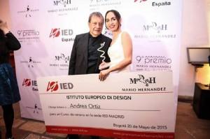 Andrea Danitza Ortiz Monsalve, de 25 años, fue la ganadora de la versión 2015 del Premio Mario Hernández.  - Suministrada / GENTE DE CABECERA