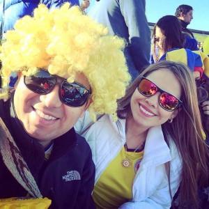 Diana es santandereana y hace parte de los hinchas que acompañaron a la Selección Colombia en Chile. - Suministrada / GENTE DE CABECERA