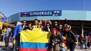 Algunos amigos de Diana residentes en Argentina viajaron a Chile para ver los partidos de Colombia juntos. - Suministrada / GENTE DE CABECERA