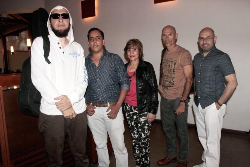 M Blatt, Santiago Pérez, Sonia Murillo, Víctor Hugo Henao y Humberto García