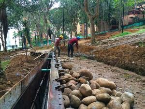 En la recuperación del parque Los Sarrapios se hace una inversión de $980 millones
