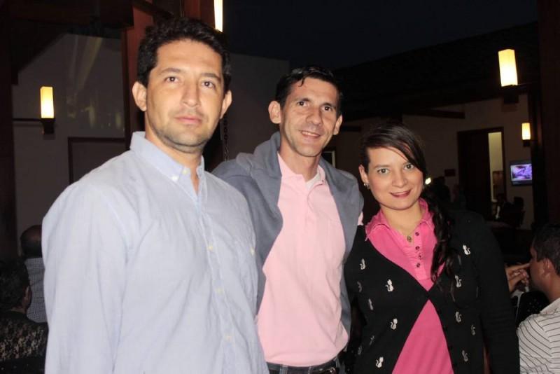 Álvaro Iván Gómez, Mario García y Diana Carvajal.