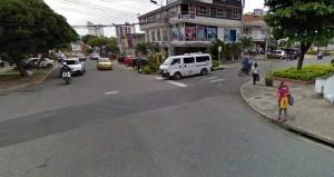 Los accidentes ocurren porque los conductores omiten el pare que está señalizado en la carrera 29 con calle 33. - Tomada de Google / GENTE DE CABECERA