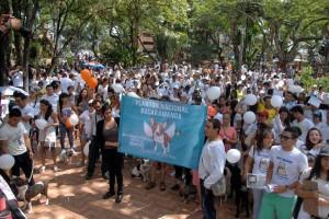 El pasado fin de semana más de 300 personas se reunieron en el Parque San Pío para protestar contra el maltrato animal y rechazar actos de violencia, tal y como se evidenció con el caso de Dominic, el Bull Terrier que murió en hechos crueles en Huila