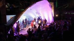 La concha acústica José A. Morales fue el lugar elegido para los festivales musicales de la feria