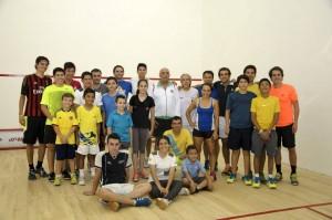 Asistentes al abierto de squash organizado por la Academia Becerra + Stillman. - Suministrada / GENTE DE CABECERA