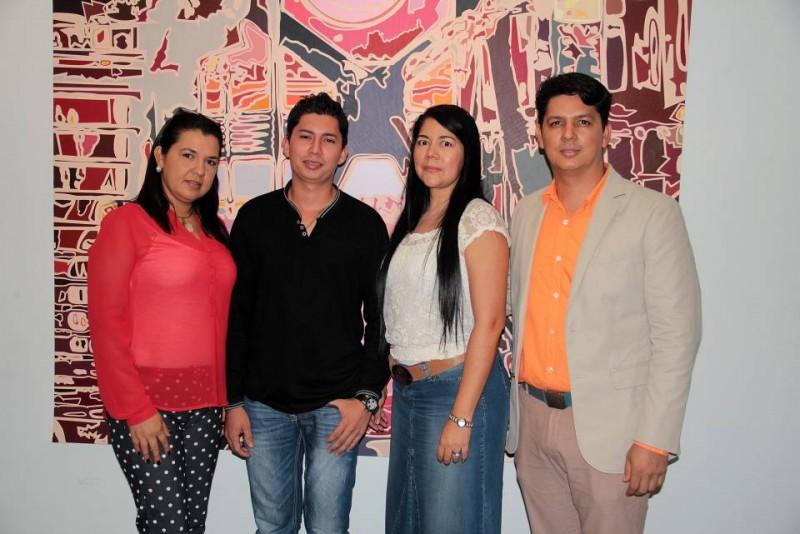 Yenny Calderón, Osnéider Gómez, Liliana González y el maestro Edwin Calderón. - Javier Gutiérrez / GENTE DE CABECERA