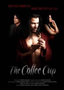 Esta es la imagen promocional de la película 'The Coffee Cup', en la que actúa y también es director. Rubén es el personaje del centro