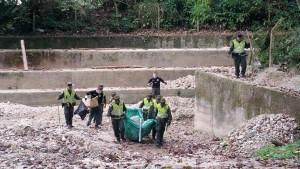La quebrada nuevamente fue centro de atención de quienes se dedican a realizar jornadas ambientales de limpieza. - Suministrada / GENTE DE CABECERA