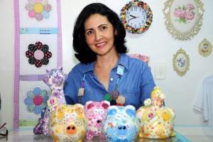 María Lucía Ramírez hace objetos decorativos con retazos de tela