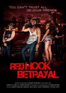 'Post' promocional de la película Red Hook Betrayal. Rubén es el personaje que aparece en el centro de la imagen.