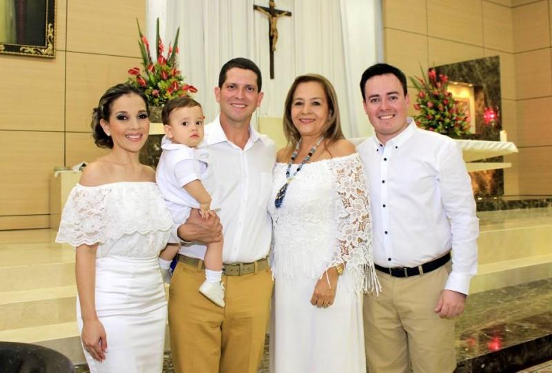 Julie De la Peña, Carlos Fernando Rincón De La Peña,  David De la Peña, Edith Teresa Rincón y Luis Carlos Rincón. - Fabián Hernández / GENTE DE CABECERA