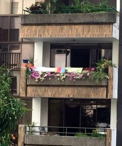 """La ciudadana califica como """"vergonzoso"""" el panorama desde su apartamento hacia este balcón. - Suministrada / GENTE DE CABECERA"""