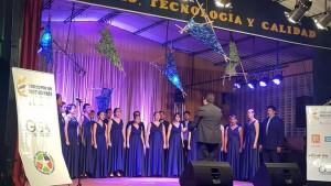 El coro en su presentación en Zapatoca. - Suministrada / GENTE DE CABECERA