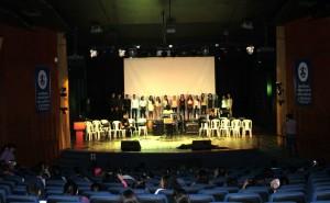 Acto de inauguración del auditorio luego de su remodelación. - Suministrada / GENTE DE CABECERA