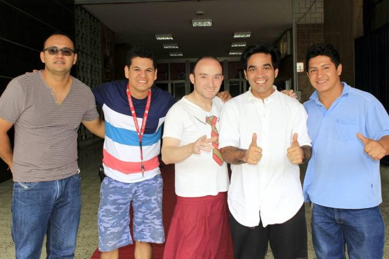 Jhon Frank Mejía, Déiber Rodríguez, Ernesto Aronna, Gonzo Velazko y Brayan Suárez. - Fabián Hernández / GENTE DE CABECERA