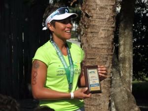 Kelly Cadena es una consagrada deportista bumanguesa. Luego de ser nadadora, basquetbolista y squashista, ahora es triatleta.