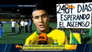 El joven de 21 años logró robarse las miradas de los camarógrafos durante y después del partido. - Suministrada / GENTE DE CABECERA