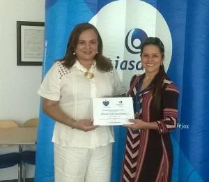 Con la mención entregada por Cajasán recibió $2 millones para la fundación. - Suministrada / GENTE DE CABECERA