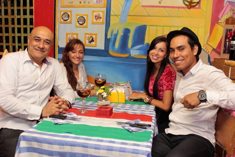 Carlos Leal, Alexandra Campo, Sabrina Dávila y Carlos Leal Jr. - Fabián Hernández / GENTE DE CABECERA