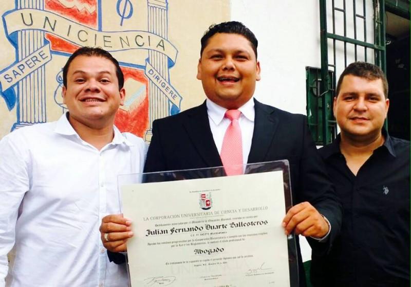 Eimar Ramírez, Julián Fernando Duarte y John Bello. - Suministrada / GENTE DE CABECERA