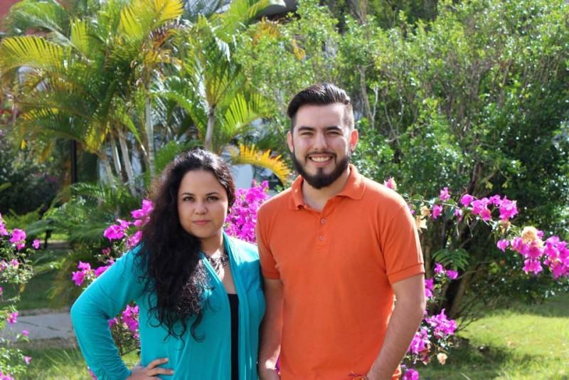 Faviola Esparza y Brandon Luna, estudiantes de la Universidad de Sonora y la Universidad Autónoma de Nuevo León, en México. - Suministrada / GENTE DE CABECERA